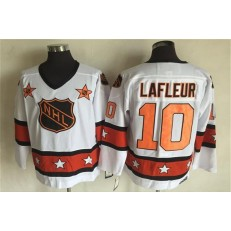 1980 All Star #10 Guy Lafleur White CCM Throwback Stitched NHL Jersey