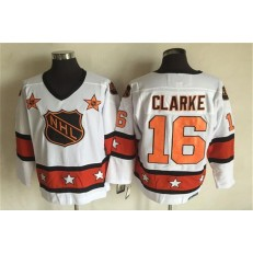 1980 All Star #16 Bobby Clarke White CCM Throwback Stitched NHL Jersey