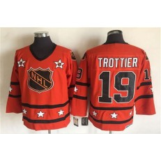 1980 All Star #19 Bryan Trottier Orange CCM Throwback Stitched NHL Jersey
