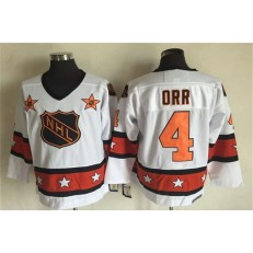 1980 All Star #4 Bobby Orr White CCM Throwback Stitched NHL Jersey