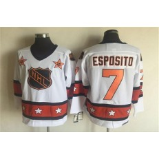 1980 All Star #7 Phil Esposito White CCM Throwback Stitched NHL Jersey