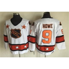 1980 All Star #9 Gordie Howe White CCM Throwback Stitched NHL Jersey