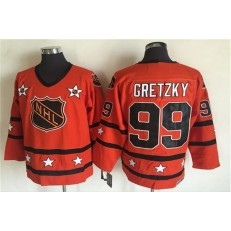 1980 All Star #99 Wayne Gretzky Orange CCM Throwback Stitched NHL Jersey