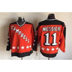 1984 All Star #11 Mark Messier Orange CCM Throwback Stitched NHL Jersey