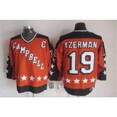 1984 All Star #19 Steve Yzerman Orange CCM Throwback Stitched NHL Jersey