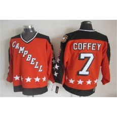 1984 All Star #7 Paul Coffey Orange CCM Throwback Stitched NHL Jersey