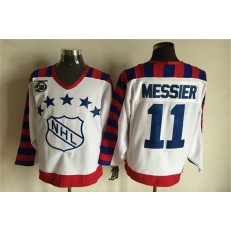 1992 All Star #11 Mark Messier White CCM Throwback 75TH Stitched NHL Jersey