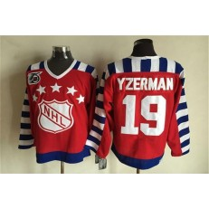 1992 All Star #19 Steve Yzerman Red CCM Throwback 75TH Stitched NHL Jersey