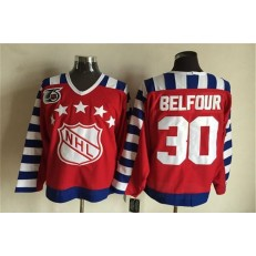 1992 All Star #30 Red CCM Throwback 75TH Stitched NHL Jersey