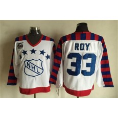 1992 All Star #33 Patrick Roy White CCM Throwback 75TH Stitched NHL Jersey