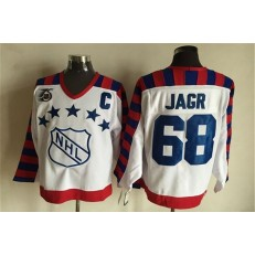 1992 All Star #68 Jaromir Jagr White CCM Throwback 75TH Stitched NHL Jersey
