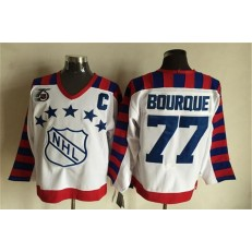 1992 All Star #77 Ray Bourque White CCM Throwback 75TH Stitched NHL Jersey