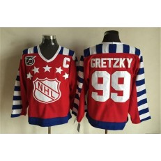 1992 All Star #99 Wayne Gretzky Red CCM Throwback 75TH Stitched NHL Jersey