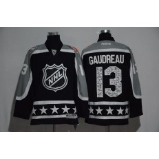 Calgary Flames #13 Johnny Gaudreau Black Pacific Division 2017 All Star NHL Jersey
