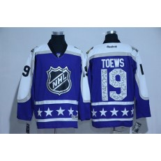 Chicago Blackhawks #19 Jonathan Toews Purple Central Division 2017 All Star NHL Jersey