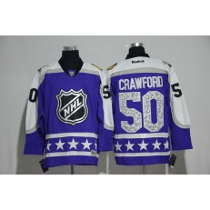 Chicago Blackhawks #50 Corey Crawford Purple Central Division 2017 All Star NHL Jersey