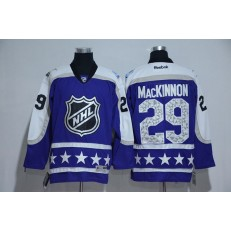 Colorado Avalanche #29 Nathan MacKinnon Purple Central Division 2017 All Star NHL Jersey
