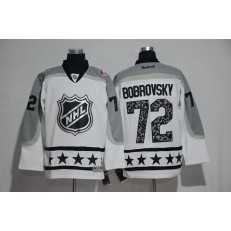 Columbus Blue Jackets #72 Sergei Bobrovsky White Metropolitan Division 2017 All Star NHL Jersey