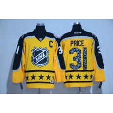 Montreal Canadiens #31 Carey Price Yellow Atlantic Division 2017 All Star NHL Jersey