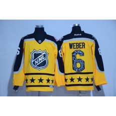 Montreal Canadiens #6 Shea Weber Yellow Atlantic Division 2017 All Star NHL Jersey