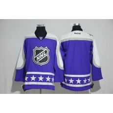 NHL 2017 All Star Central Division Blank Purple Men Jersey