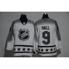 New Jersey Devils #9 Taylor Hall White Metropolitan Division 2017 All Star NHL Jersey