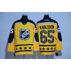 Ottawa Senators #65 Erik Karlsson Yellow Atlantic Division 2017 All Star NHL Jersey