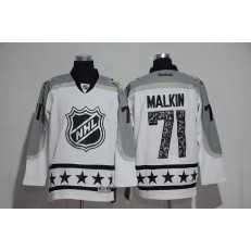 Pittsburgh Penguins #71 Evgeni Malkin White Metropolitan Division 2017 All Star NHL Jersey