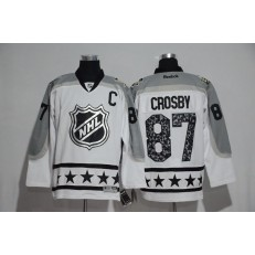 Pittsburgh Penguins #87 Sydney Crosby White Metropolitan Division 2017 All Star NHL Jersey
