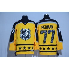 Tampa Bay Lightning #77 Victor Hedman Yellow Atlantic Division 2017 All Star NHL Jersey