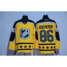 Tampa Bay Lightning #86 Nikita Kucherov Yellow Atlantic Division 2017 All Star NHL Jersey