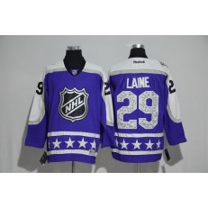 Winnipeg Jets #29 Patrik Laine Purple Central Division 2017 All Star NHL Jersey