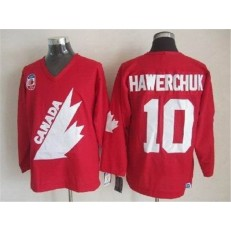 Olympic 1991 CA. #10 Dale Hawerchuk Red CCM Throwback Stitched NHL Jersey