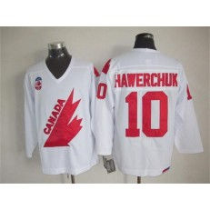 Olympic 1991 CA. #10 Dale Hawerchuk White CCM Throwback Stitched NHL Jersey