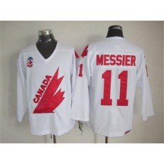 Olympic 1991 CA. #11 Mark Messier White CCM Throwback Stitched NHL Jersey