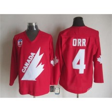Olympic 1991 CA. #4 Bobby Orr Red CCM Throwback Stitched NHL Jersey