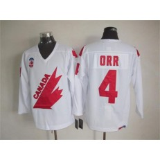 Olympic 1991 CA. #4 Bobby Orr White CCM Throwback Stitched NHL Jersey