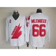 Olympic 1991 CA. #66 Mario Lemieux White CCM Throwback Stitched NHL Jersey