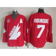 Olympic 1991 CA. #7 Ray Bourque Red CCM Throwback Stitched NHL Jersey