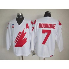 Olympic 1991 CA. #7 Ray Bourque White CCM Throwback Stitched NHL Jersey