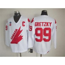 Olympic 1991 CA. #99 White CCM Throwback Stitched NHL Jersey