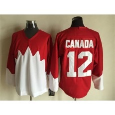 Team Canada #12 Red White 1972 Commemorative CCM Stitched NHL Jersey