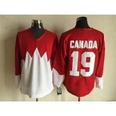 Team Canada #19 Red White 1972 Commemorative CCM Stitched NHL Jersey