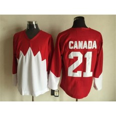 Team Canada #21 Red White 1972 Commemorative CCM Stitched NHL Jersey