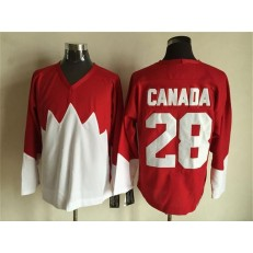 Team Canada #28 Red White 1972 Commemorative CCM Stitched NHL Jersey