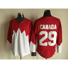 Team Canada #29 Red White 1972 Commemorative CCM Stitched NHL Jersey