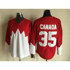 Team Canada #35 Red White 1972 Commemorative CCM Stitched NHL Jersey