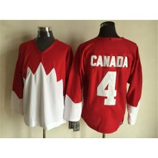 Team Canada #4 Red White 1972 Commemorative CCM Stitched NHL Jersey
