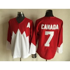Team Canada #7 Red White 1972 Commemorative CCM Stitched NHL Jersey