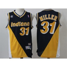 Indiana Pacers #31 Reggie Miller Yellow Throwback Stitched NBA Jersey